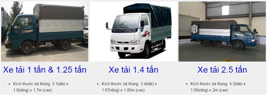 xe taxi tải các loại